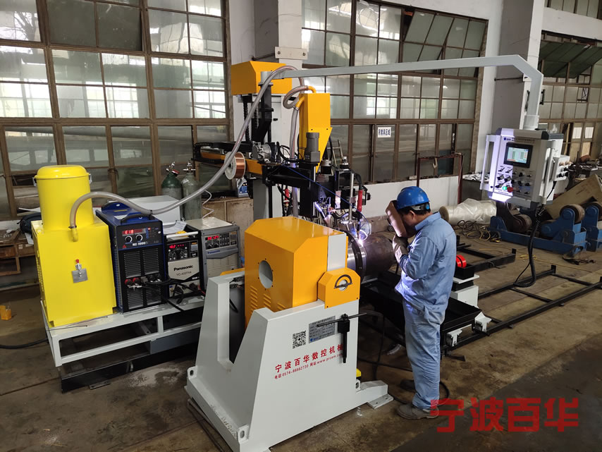 卡盘悬臂氩弧气保工艺管道自动焊机用于三通法兰自动焊接作业