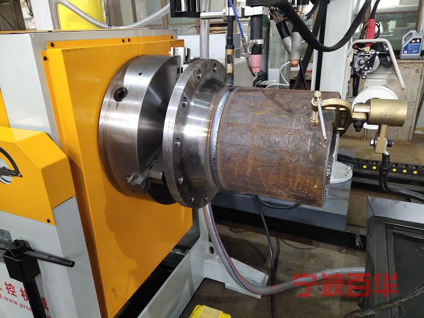 卡盘气保氩弧管道自动焊机:法兰直管对接焊效果