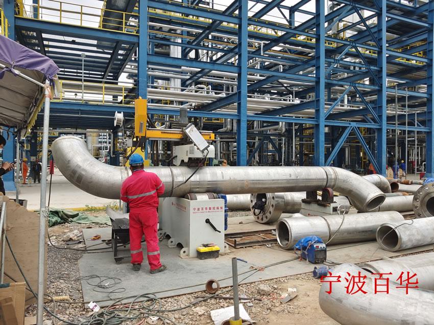 大型重载埋弧焊管道自动焊机焊接化工管道