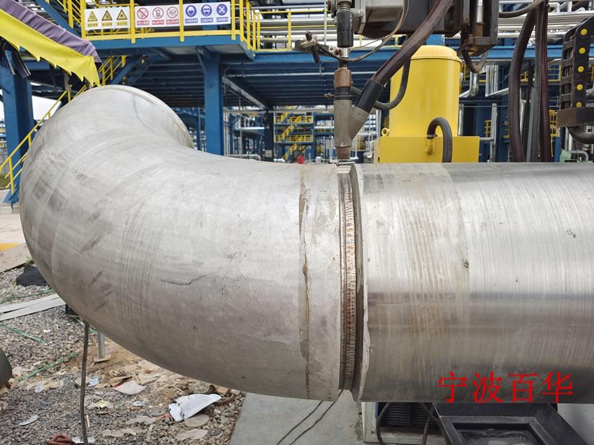 重载埋弧焊管道自动焊机 弯头直管对接焊成型